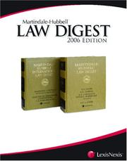 Cover of: Martindale-Hubbell Law Digest | Revision by Pullman & Comley, LLC, of Hartford and Bridgeport.