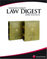 Cover of: Martindale-Hubbell Law Digest | Revision by Borden Ladner Gervais LLP, of Montreal.
