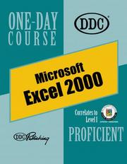 Cover of: Excel 2000 Proficient One Day Course