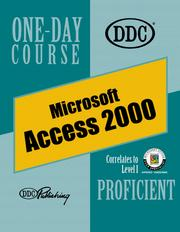 Cover of: Access 2000 Proficient One Day Course