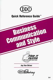 Cover of: Business Communication and Style (Quick Reference Guides (DDC))