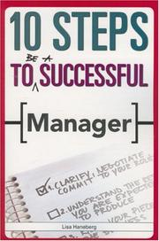 Cover of: 10 Steps to Be A Successful Manager (10 Steps) (10 Steps)
