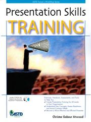 Cover of: Presentation Skills Training (ASTD Trainer