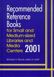 Cover of: Recommended Reference Books for Small and Medium-Sized Libraries and Media Centers 2001 (Recommended Reference Books for Small and Medium-Sized Libraries and Media Centers)