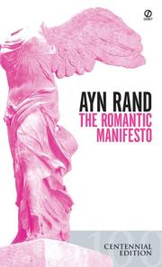 Cover of: The Romantic Manifesto: a philosophy of literature.
