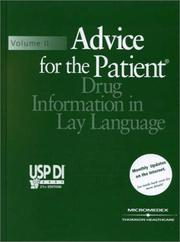 Cover of: USP DI, Volume 2 by Medical Economics, Micromedex