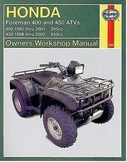 Cover of: Honda Foreman 400/450 ATVs 1995 Thru 2002 by John Harold Haynes