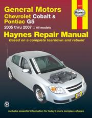 Cover of: General Motors Chevrolet Cobalt & Pontiac G5 | John Harold Haynes