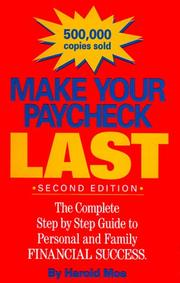Cover of: Make Your Paycheck Last | Harold Moe