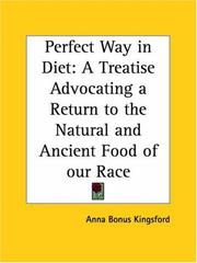 Cover of: The perfect way in diet