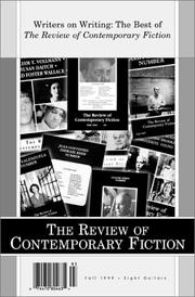 Cover of: The Review of Contemporary Fiction (Fall 1999)