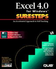 Cover of: Excel 4.0 for Windows Suresteps | Elsa Bell
