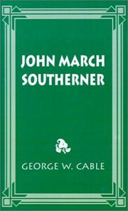 Cover of: John March, Southerner