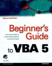 Cover of: Beginner's Guide to Vba 5