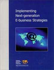 Cover of: Implementing Next-Generation E-Business Strategies