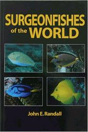 Cover of: Surgeonfishes of the World (Bishop Museum Bulletin in Zoology)