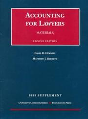 Cover of: 1999 Supplement to Materials on Accounting for Lawyers | David R. Herwitz