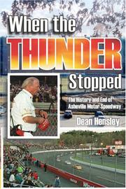 Cover of: When the Thunder Stopped | Dean Hensley