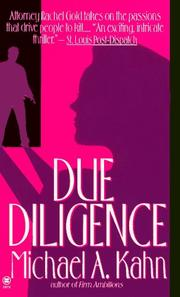 Cover of: Due Diligence (Rachel Gold Mystery) | Michael A. Kahn