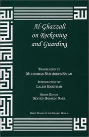 Cover of: al-Ghazzali On Reckoning and Guarding | al-GhazzДЃlД«