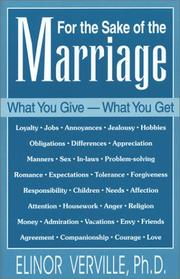 Cover of: For the Sake of the Marriage