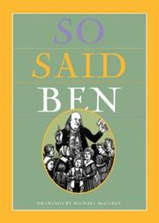 Cover of: So Said Ben | Michael McCurdy