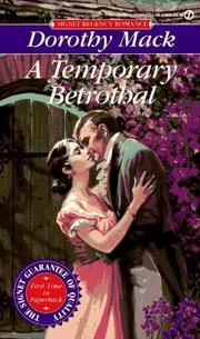 Cover of: Temporary Betrothal | Dorothy Mack