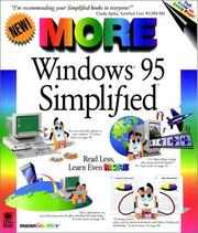 Cover of: MORE Windows® 95 Simplified® by Ruth Maran