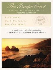 Cover of: The Pacific Coast 2003 Postcard Calendar | John Gavrilis
