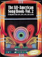 Cover of: The All-American Song Book, Vol. 2