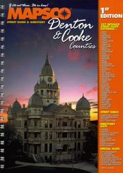 Cover of: Denton & Cooke Counties Street Guide and Directory | MAPSCO