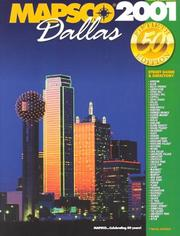 Cover of: Mapsco 2001 Dallas: Street Guide & Directory (Mapsco Street Guide and Directory : Dallas, 2001) | MAPSCO