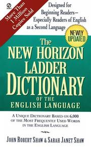 Cover of: The New Horizon Ladder Dictionary of the English Language