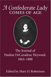 Cover of: Confederate Lady Comes of Age | Mary D. Robertson