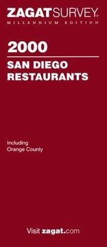 Cover of: 2000 San Diego restaurants |