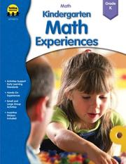 Cover of: Kindergarten Math Experiences (Preschool and Kindergarten Math Experiences) |