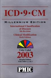 Cover of: ICD-9-CM Millennium Edition, International Classification of Diseases, 9th Revision | Practice Management Information Corporat