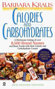 Calories and carbohydrates by Barbara Kraus