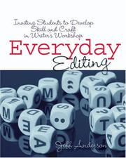Cover of: EVERYDAY EDITING | Jeff Anderson
