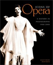 Cover of: Icons of Opera
