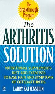 Cover of: The arthritis solution