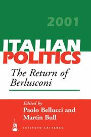 Cover of: The Return of Berlusconi (Italian Politics) |