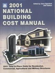 Cover of: 2001 National Building Cost Manual (National Building Cost Manual, 2001) | Dave Ogershok