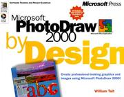 Cover of: Microsoft Photodraw 2000 by Design | William Tait