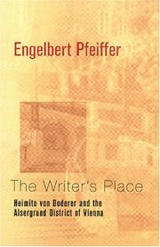 Cover of: The Writer///s Place | Engelbert Pfeiffer