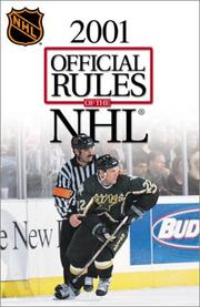 Cover of: Official Rules of the NHL 2001 | National Hockey League.