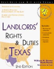 Cover of: Landlords' Rights and Duties in Texas by Mark Warda