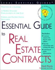 Cover of: Essential Guide to Real Estate Contracts