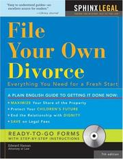 Cover of: File Your Own Divorce, 7E  (+CD-ROM) (How to File Your Own Divorce) | Edward Haman