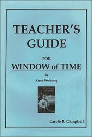 Cover of: Teachers Guide for Window of Time